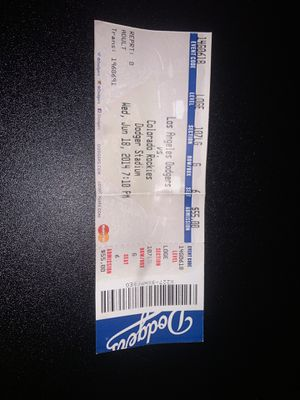2014 Clayton Kershaw no hitter ticket for Sale in Bell Gardens, CA