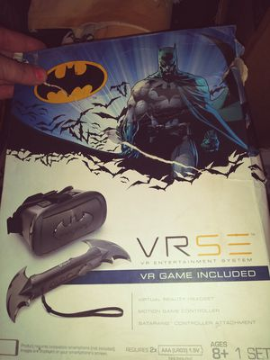 Batman Virtual Reality googles and remote for games inclufes for Sale in Alexandria, LA