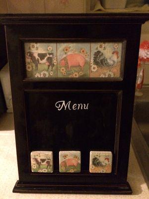Magnetic menu home decor for Sale in Manassas, VA