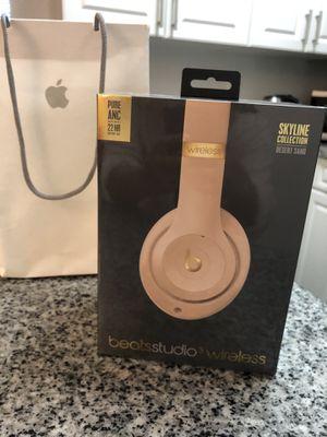 Beats Studio3 Wireless Headphones – The Beats Skyline Collection - Desert Sand Brand new unopened box for Sale in Fairfax, VA