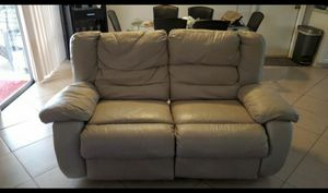 Leather recliner love seat for Sale in Palm Bay, FL
