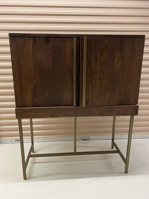West Elm Walnut Bar Cabinet for Sale in Exton, PA