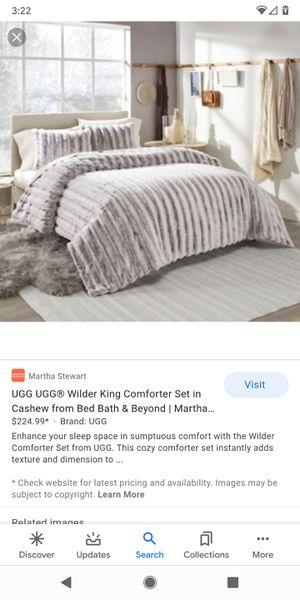 UGG 3 Piece Wilder Comforter Set - King for Sale in Seattle, WA