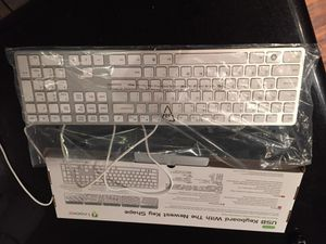 Irocks white/silver computer keyboard for Sale in Austin, TX