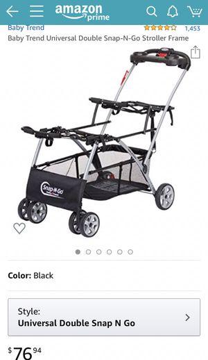 Baby Trend Universal Double Snap-N-Go Stroller Frame for Sale in Elizabeth, NJ