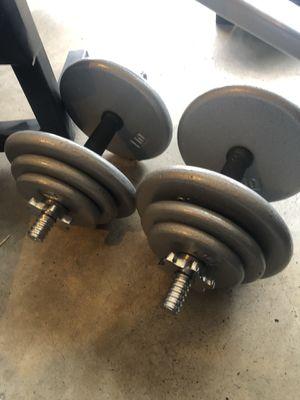 5-35 rubber adjustable dumbbells for Sale in Saint Charles, MO