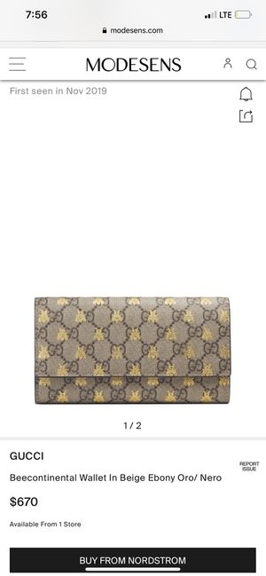 GUCCI Beecontinental Wallet in Beige Ebony Oro/ Nero for Sale in Wood River, IL