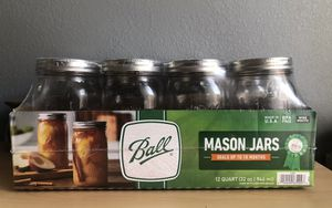 NEW! Ball 32 oz Regular Mouth Jars 12 Pack for Sale in Bothell, WA