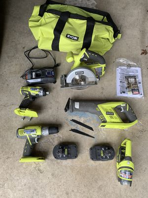 5 tool set of Ryobi power tools for Sale in Sherwood, OR