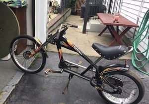 "Schwinn StingRay Bike OCC Chopper Black/Chrome with Orange Flames 20"" for Sale in Cambridge, MA"