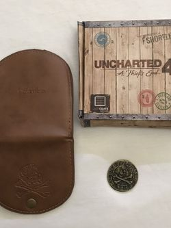 PlayStation Uncharted 4 A Thief's End Wallet & Coin Open Box New for Sale in Reedley,  CA