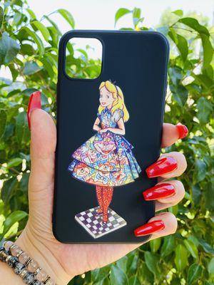 Brand new cool iphone 11 PRO MAX 6.5 case cover phone case rubber Alice in wonderland disneyland disney girls womens fundas pretty for Sale in San Bernardino, CA