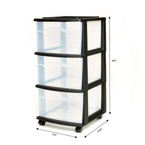 Homz 3 Drawer Medium Cart with Casters, Set of 2 for Sale in Houston, TX