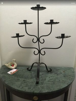Wrought iron candelabra made in the early 70's **read description**handmade for Sale in Fort Lauderdale, FL