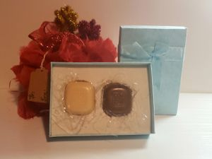 Choco Soap.Soap that looks like chocolate.Creamy.Gift.2 pieces (Brown and White). for Sale in Miami, FL