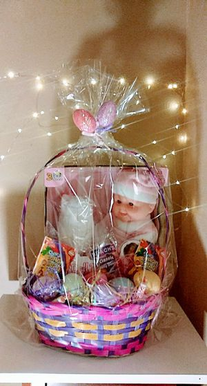 Girls or Boys Easter Basket Filled with Candy & A Guitar for Boy or Baby Doll for Girl - NEW for Sale in Murrieta, CA