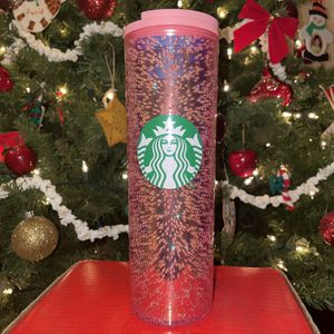 NWT Starbucks Pink Bubbly Skinny Tumbler 16oz Grande for Sale in Broadview Heights, OH