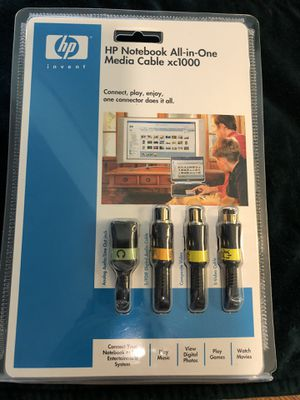 Nu2nds: NEW SEALED HP XC1000 Notebook All In One Media Cable XC-1000 w/Manuals for Sale in Arlington, TX