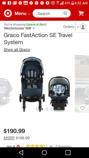 Graco fast fold stroller and infant car seat for Sale in Huntington Beach, CA
