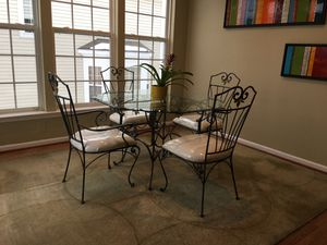 Iron and glass dining set for Sale in Gaithersburg, MD