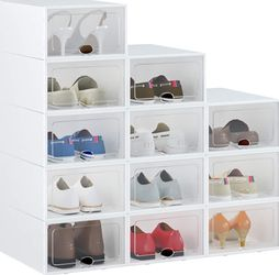 Shoe Box, 12 Pack Shoe Storage Boxes for Sale in Fontana,  CA
