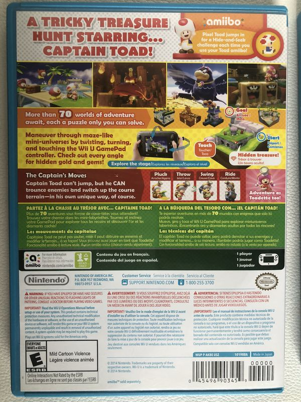 Super Mario 3D World and Captain Toad for Wii U