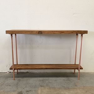 Mae Console Table Copper and Reclaimed Wood Sofa Table for Sale in Payson, AZ