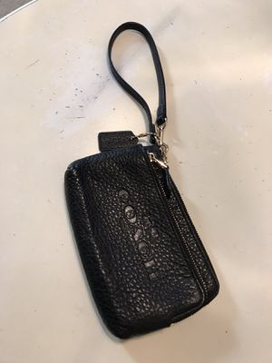 Black Coach wristlet clutch for Sale in Houston, TX