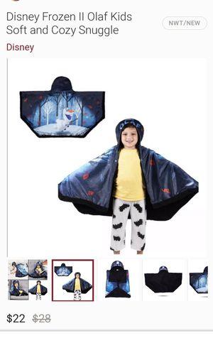 Disney Frozen II Olaf snuggle wrap hoodie blanket for Sale in Lodi, NJ