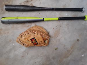 Looking to trade two bats and a catchers mitt for a baseball glove for Sale in Los Angeles, CA