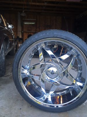 22s Rims For sale bolt pattern 120 by 5 for Sale in Davenport, IA