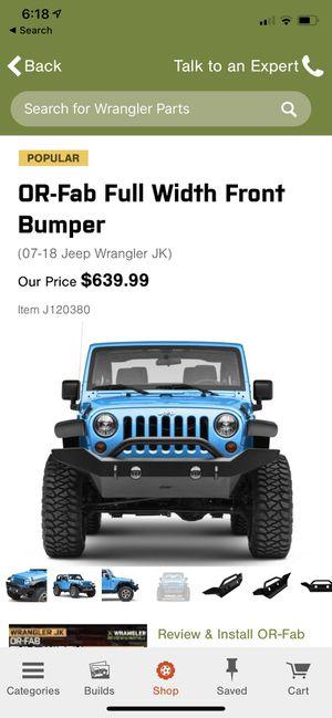 Jeep front bumper for Sale in Pembroke Pines, FL