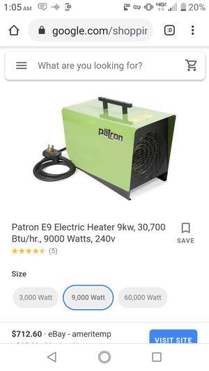 Patron electric heater 30,700 btu E9 for Sale in Tacoma, WA
