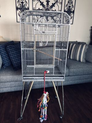 Large bird cage & toys for Sale in Dallas, TX
