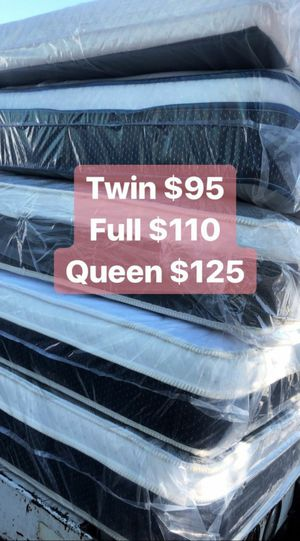 PILLOW TOP MATTRESSES ☎️📲 •10inches thick •same day delivery or pick up •twin $95 •Full $110 •queen $120 $15 -$25 for delivery 🚚 for Sale in Los Angeles, CA