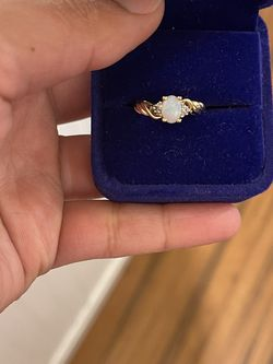 14k gold genuine Opal and diamonds ring size 7 for Sale in Weymouth,  MA