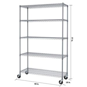TRINITY 5 Tier Wire Shelving Rack with Wheels for Sale in Arlington Heights, IL