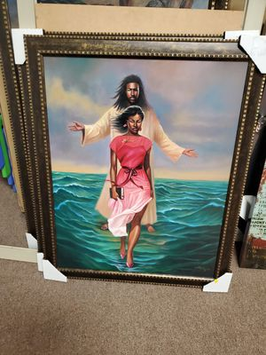 He Walks With Me African American Art Framed for Sale in Suitland, MD