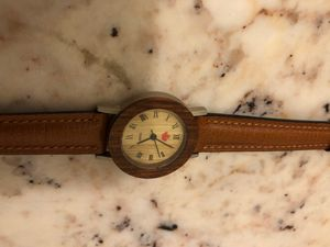 Tense small women's wooden watch with leather straps for Sale in San Bernardino, CA