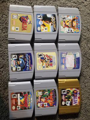 9ct original N64 games and box. for Sale in Mesa, AZ
