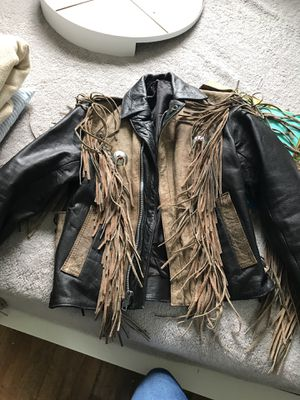 Small/Medium size real leather jacket for Sale in Orlando, FL