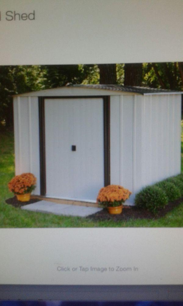 Newport 8ft. × 6ft. Steel shed