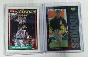 (2) Michael Jordan cards-baseball RC! for Sale in Cleveland, OH