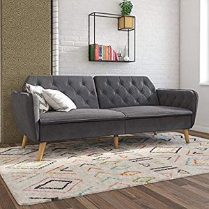 New! Novogratz Tallulah Memory Foam Futon, Grey Velvet In The Box for Sale in Hayward, CA