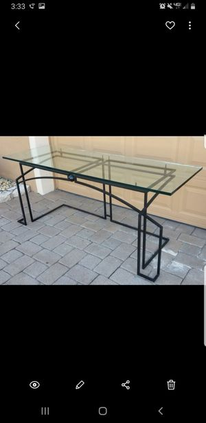 72 inches wide modern glass desk stand $200 firm. for Sale in Lake Worth, FL