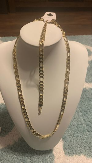 Laminate gold chain and bracelet for Sale in Rialto, CA