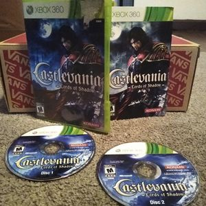 CASTLEVANIA LORDS OF SHADOW (Xbox 360 Game), includes 2 Discs, Box, and Instruction Manual for Sale in Scottsdale, AZ