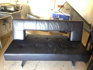 IKEA leather futon couch set up for Sale in Phoenix, AZ