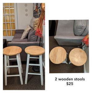 Two wooden stools for Sale in Washington, DC
