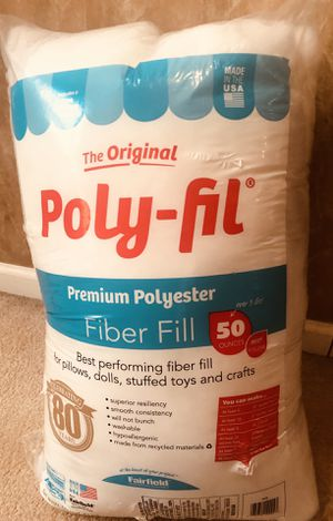 Polyfil Fiber Fil 50 oz Bag - New! Toy/Craft/Pillow Stuffing for Sale in Ellenwood, GA
